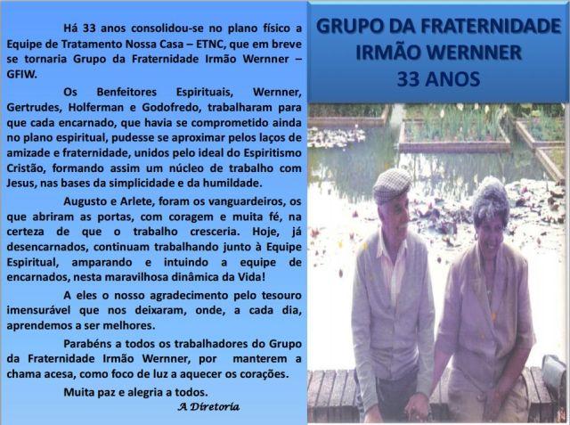 GRUPO DA FRATERNIDADE IRMÃO WERNNER